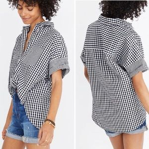 Madewell Gingham Play Button Down Checked Shirt